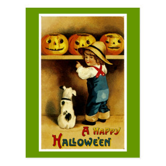 Un feliz Halloween Postal