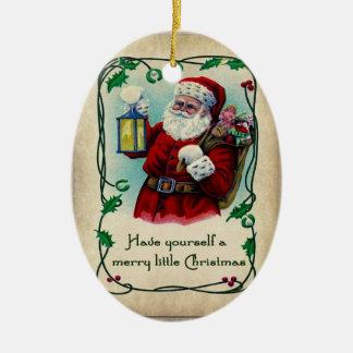 Un feliz pequeño ornamento del navidad adornos de navidad