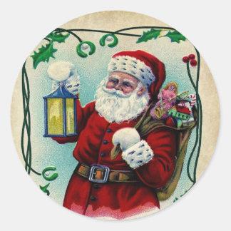 Un feliz pequeño pegatina del navidad
