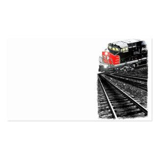 Un ferrocarril abstracto tarjetas de negocios