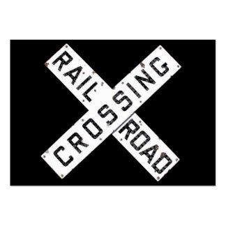 Un ferrocarril Crossbuck del vintage Tarjetas De Negocios