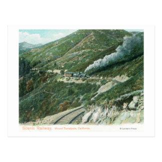 Un ferrocarril escénico ViewMt. Tamalpais, CA Tarjeta Postal