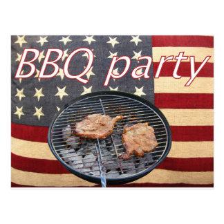 Un fiesta americano del Bbq Postal