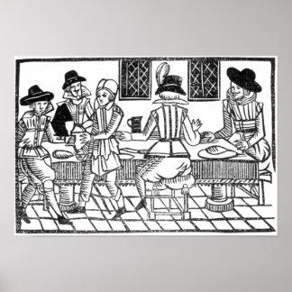 Un fiesta de cena, un 'libro de las baladas de Rox Póster