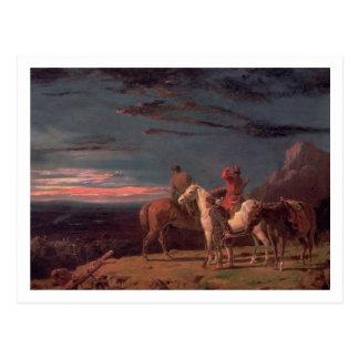 Un fiesta de exploradores, 1851 (aceite en lona) tarjeta postal