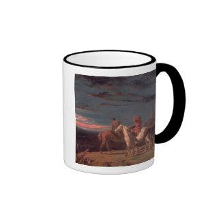Un fiesta de exploradores, 1851 (aceite en lona) taza de dos colores