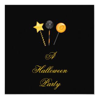 """Un fiesta"" - Halloween Lollypops de Halloween Invitación 5.25"" X 5.25"""