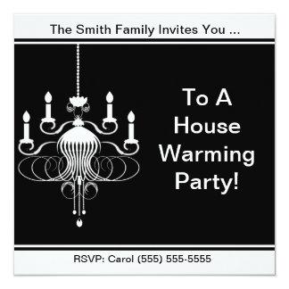 """Un fiesta que se calienta de la casa invitación 5.25"""" x 5.25"""""""