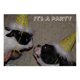 Un fiesta tarjeta de felicitación