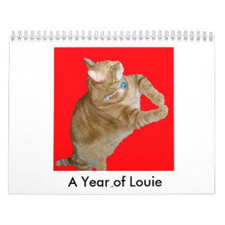 Un ~ fino del fandango al año de Louie Calendarios