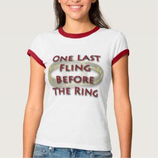 Un fling pasado antes del anillo playeras