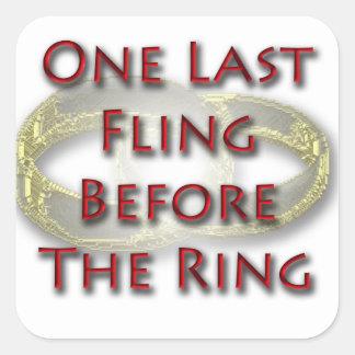 Un fling pasado antes del pegatina del anillo