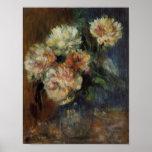 Un florero de Renoir de Peonies Impresiones