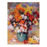 Un florero de Renoir de tulipanes y de anémonas Postal