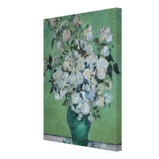 Un florero de rosas, 1890 (aceite en lona) impresiones de lienzo