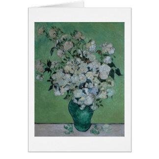 Un florero de rosas, 1890 (aceite en lona) felicitacion