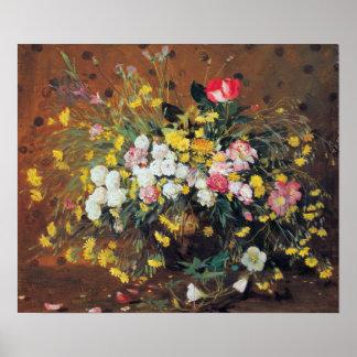 Un florero del poster de las flores