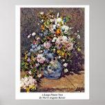 Un florero grande de Pierre-Auguste Renoir Posters