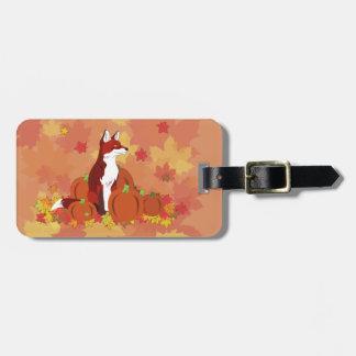 Un Fox en el remiendo de la calabaza Etiquetas Maleta