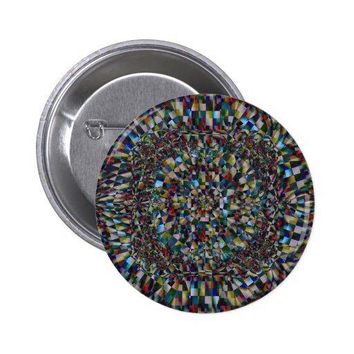 Un fractal de una ocasión (botón) pin