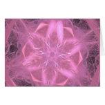 Un fractal rosado tarjeta de felicitación