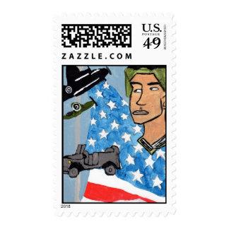 Un franqueo americano del soldado sello