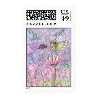 Un franqueo lindo de la mariquita de hadas amistos timbre postal
