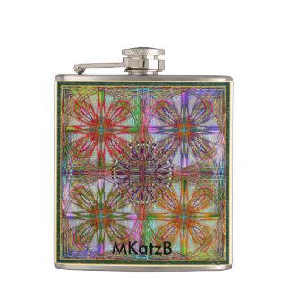 Un frasco fresco con un cierto arte de MKatzB. Petaca