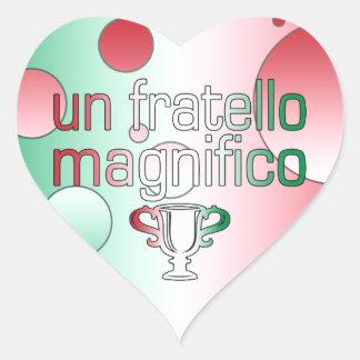 Un Fratello Magnifico Italy Flag Colors Pop Art Heart Sticker
