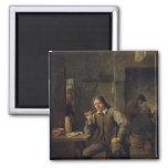Un fumador que se inclina en una tabla, 1643 iman