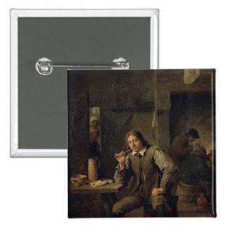 Un fumador que se inclina en una tabla, 1643 pin cuadrado