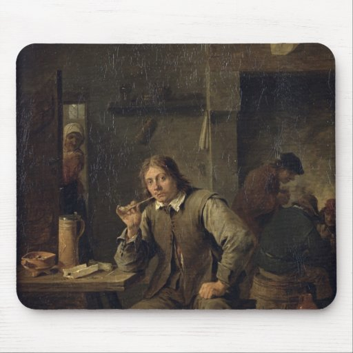 Un fumador que se inclina en una tabla, 1643 tapetes de raton