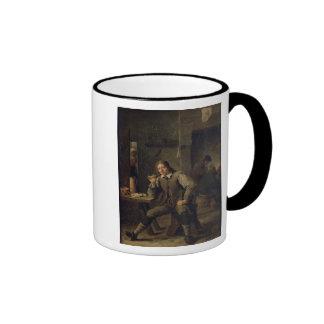 Un fumador que se inclina en una tabla, 1643 taza de café