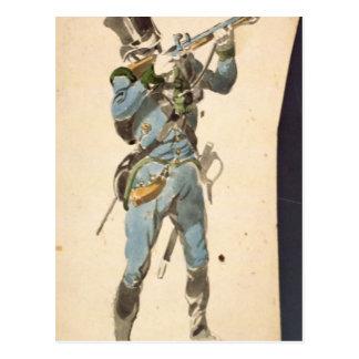 Un fusilero de los Jaegers austríacos Postal