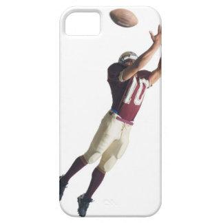 un futbolista afroamericano en un rojo y funda para iPhone SE/5/5s