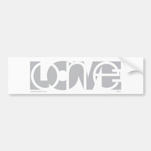 Un (G) del amor Etiqueta De Parachoque