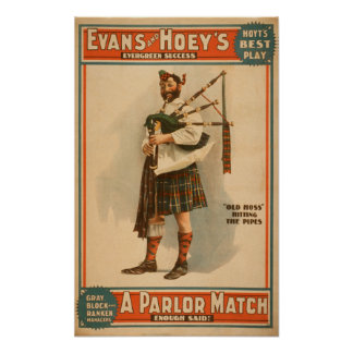 "Un gaitero escocés de ""Hoss viejo"" del partido de  Póster"