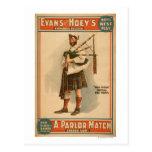 """Un gaitero escocés de """"Hoss viejo"""" del partido de  Postales"""