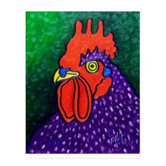 Un gallo púrpura postales