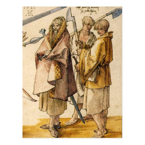 Un Gallòglach y dos Kerns - Albrecht Dürer Postales