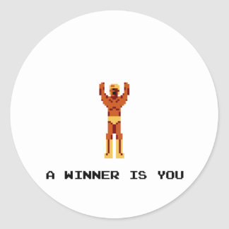 Un ganador es usted pegatinas redondas