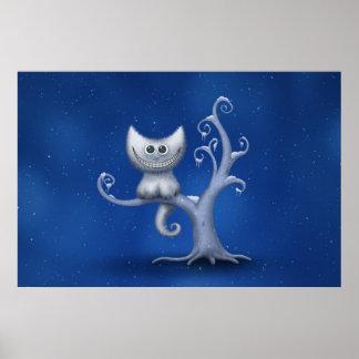 Un gatito de Cheshire (navidad) Póster