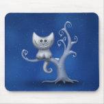 Un gatito de Cheshire (navidad) Alfombrilla De Ratones