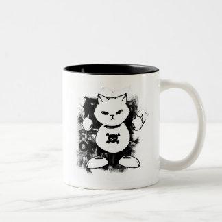 un gatito del fantasma para el café taza