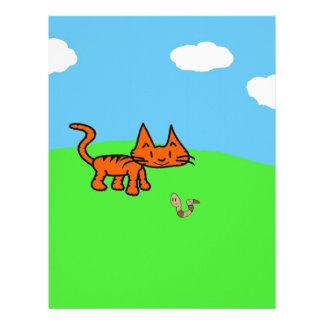 Un gatito juguetón en un día hermoso membretes personalizados