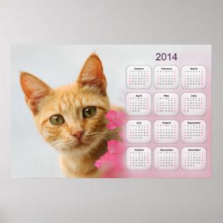 Un gatito rojo del tabby del cutie le está mirando posters
