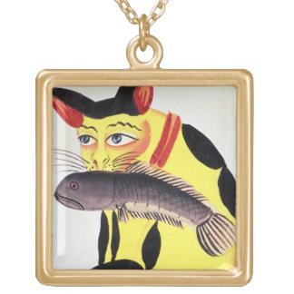 Un gato con un pescado en su boca, del Rudyard K Collares