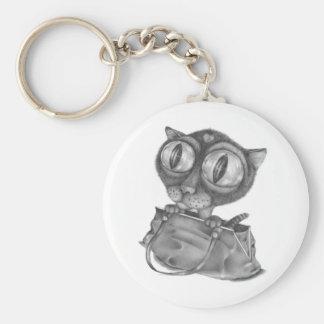 Un gato en un bolso llaveros personalizados