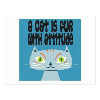 Un gato es piel con actitud tarjetas postales