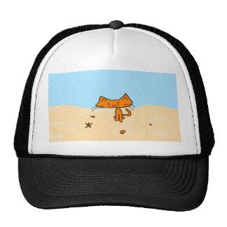 Un gato va a la playa gorro de camionero